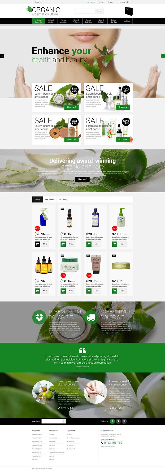 Cosmetics Shop PrestaShop Theme