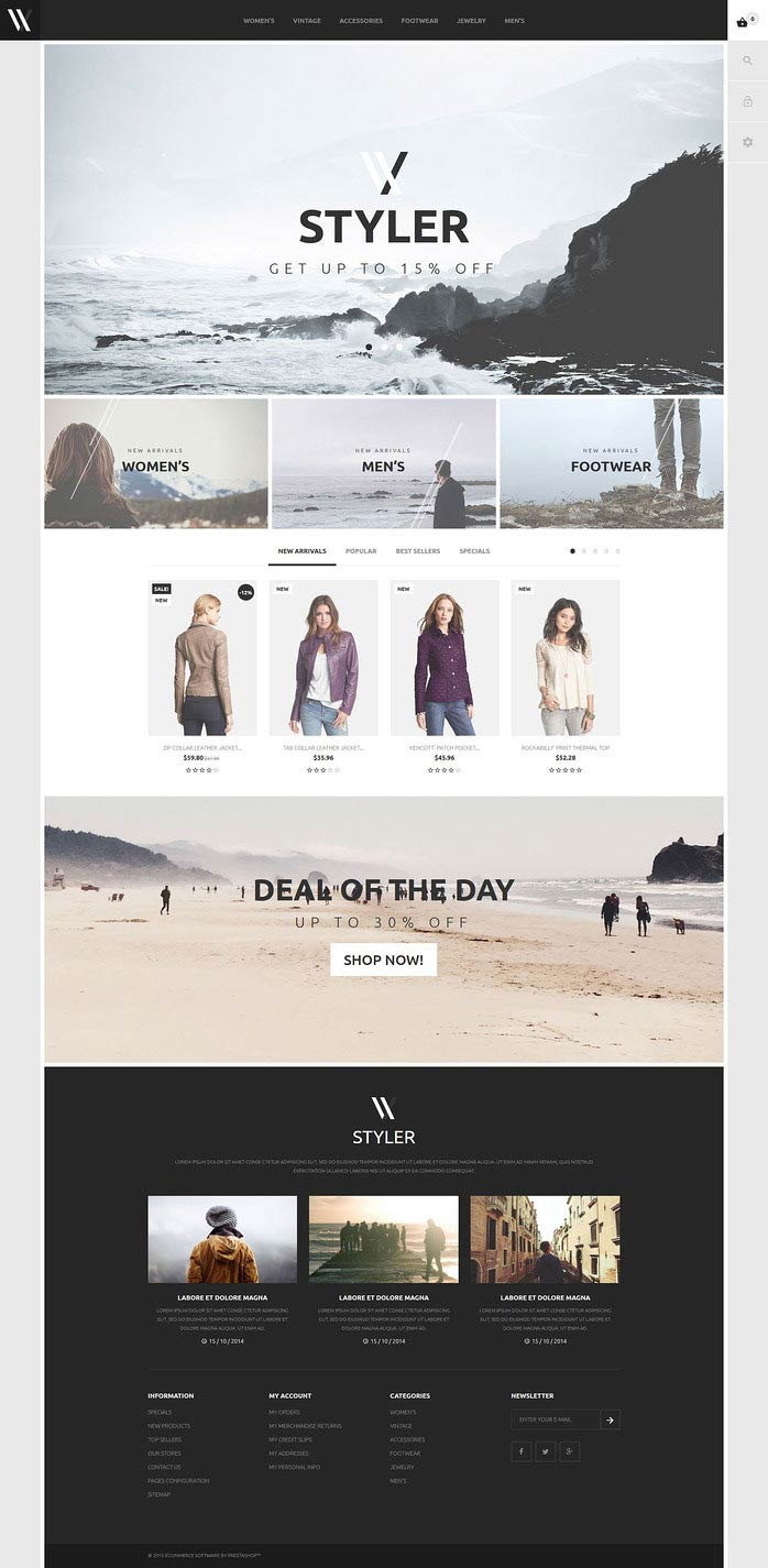 PrestaShop Fashion Store Theme